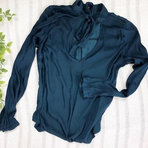 Forever 21 Neck Tie Blouse